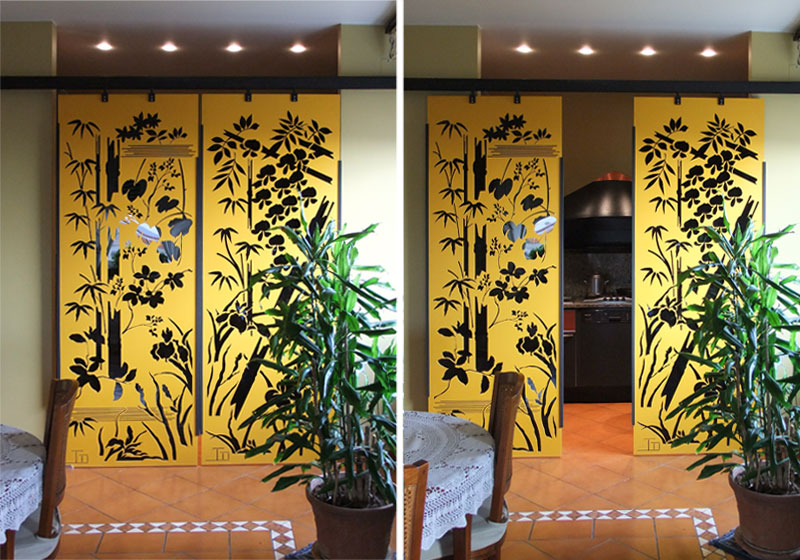 Studio iardino porta scorrevole tipo 1 - Pannelli divisori design ...
